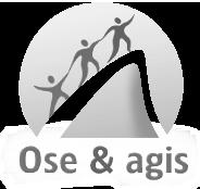 Logo Ose et Agis noir et blanc